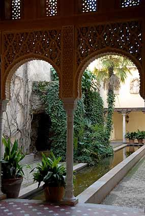 El Patio nazarí en la Alhambra, Plantas de las tierras de Al-andalus ...
